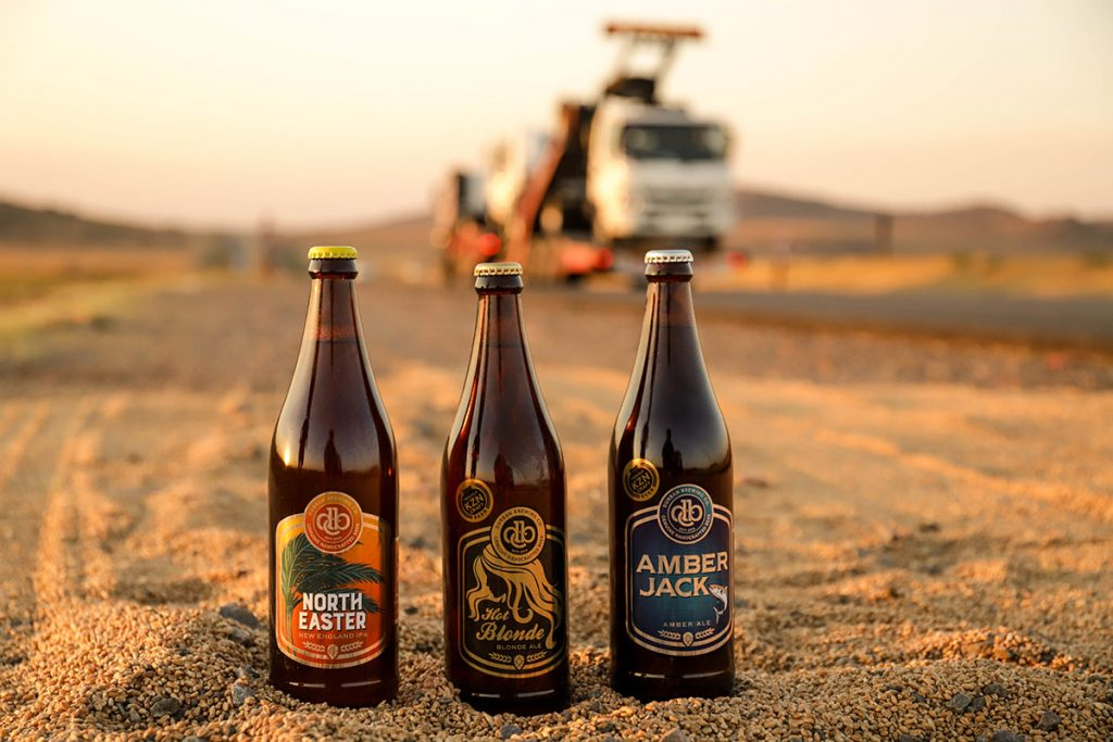 The Durban Brewing Company's range of ales.